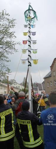 Traditionelles Maibaum-Stellen in Carlsfeld Foto: Eberhard Mädler